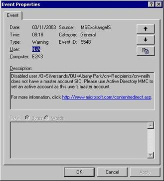 Event ID 9548