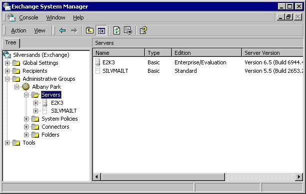 Server Versions Columns